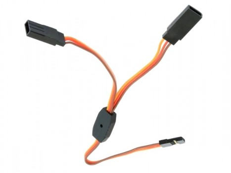 Servo Y cable extension, gold connectors -60cm