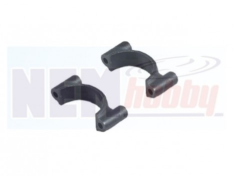 Tube Clamp 25mm Plastic set w/Screws & Nuts -Black