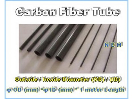 Carbon Fiber Tube 10x8mm Black -1mtr