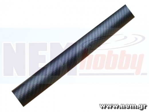 3K Carbon Tube 28x26mm Matt Finish -1mtr