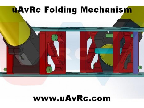 CNC Folding Mechanism DIY for Multicopters for 25mm Tube
