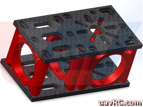 Carbon Fiber 3K Motor Plate & HUB Connector 90D -Thickness 4mm