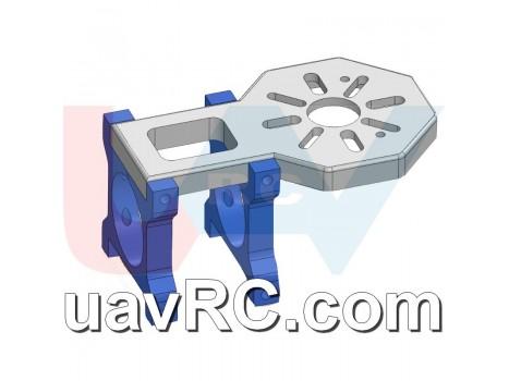 CNC Motor Mount for U8, U10 Brushless Motors 25 or 30mm Tube