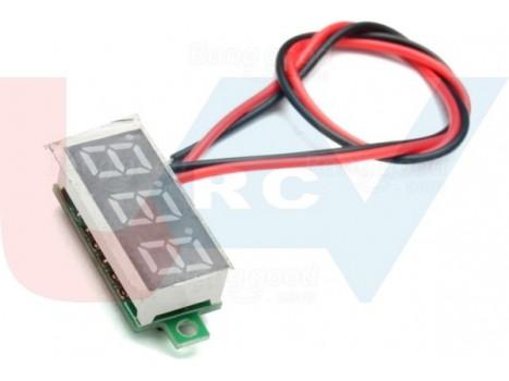 Digital Mini Voltmeter 2.5~30VDC -Red LCD