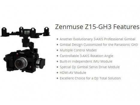 Gimbal DJI Zenmuse Z-15 for Panasonic GH3