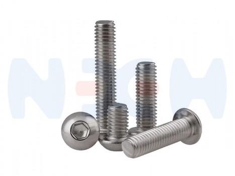 Button Head screw M5x16mm x10pcs -Silver