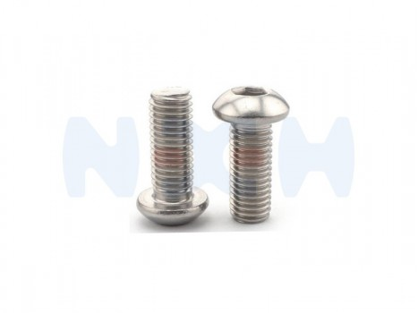 Button Head screw M3x6mm x10pcs -Silver
