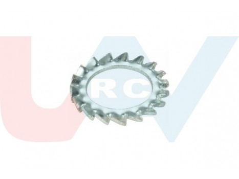 Washer M3xD8xT1mm External Tooth -Silver