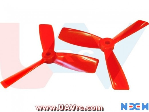 3Blade 4045BN NEM PC Unbreakable Props 2Pair/4pcs -Red