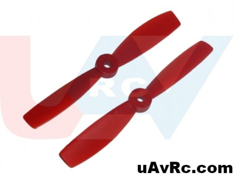 Bullnose 6x4.5 Propeller set CW/CCW -red