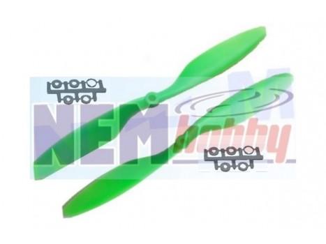"""Gemfan Slow-Fly 12x4.5"""" Props set CW+CCW -Green/Orange"""