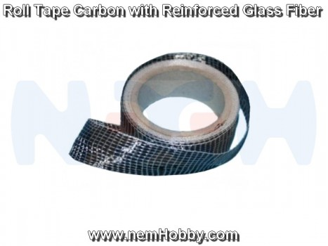 Roll Carbon Tape Reinforced with GLass Fiber 125g/m2 -x1 meter