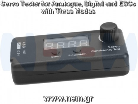 Servo Tester Digital with LCD Screen, 3-Modes, for RC Airplanes, Helicopters, Car, Boats, Robots -4.8-6Volts