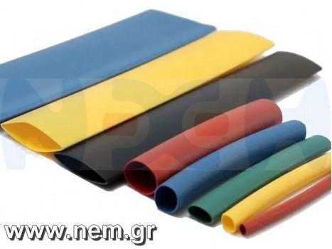 Shrink Heat Tube 90mm x1 meter -Black/Red