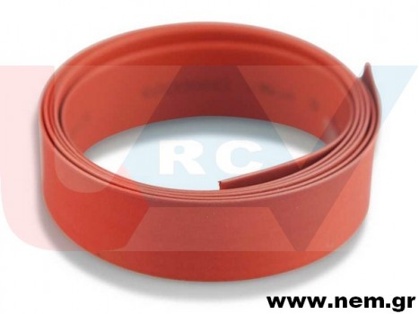 Shrinkable Heat Tube 10mm x1 meter -Red color