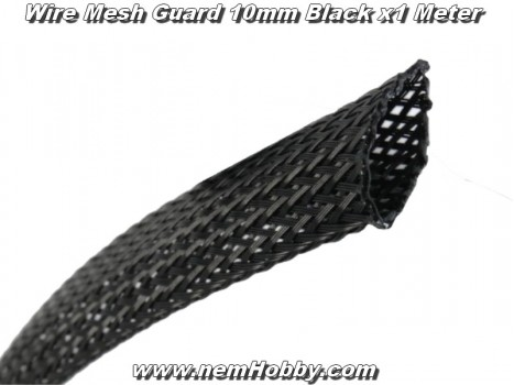 Wire Mesh Guard 10mm Black x1 Meter