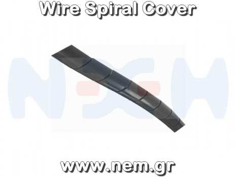 Spiral Wrap 8mm Black color -1 meter