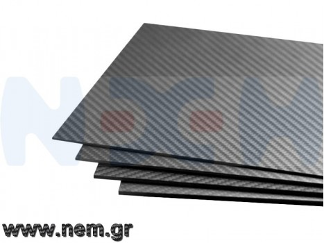 Carbon Fiber 500x400 x5mm, 3K Plate Panel Sheet, Plain Weave, Matte Surface