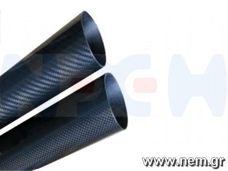 3K Carbon Tube 35x33mm Matte Finish -1mtr