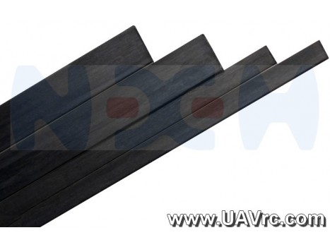Carbon Fiber Flat Bar 3.0 x 0.5 x 1000mm