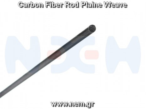 Carbon Fiber Rod 5.0mm x1 meter -Plain Weave
