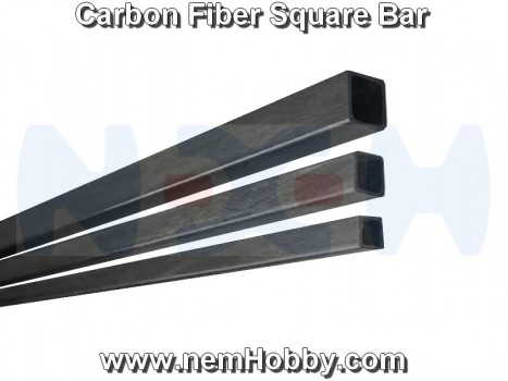 Carbon Fiber Square Bar 10 x 10 x 1000mm