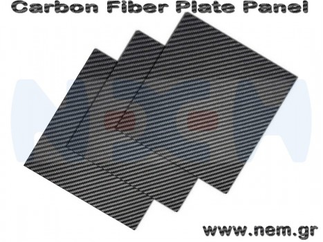 Carbon Fiber 500x400 x2mm, 3K Plate Panel Sheet, Plain Weave, Matte Surface