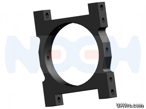 Tube Clamp 35mm CNC AL -Black Matte Anodized