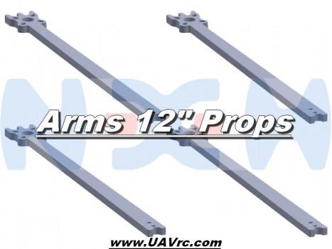 "12"" Prop Carbon Motor Arm 5mm thickness x4pcs -D453mm"