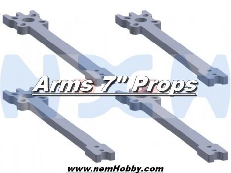 "7"" Prop Carbon Motor Arm 5mm thickness x4pcs -D268mm"