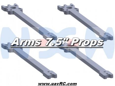 "7.5"" Prop Carbon Motor Arm 5mm thickness x4pcs -D287mm"