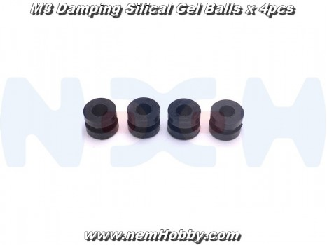 M3 Damping Silical Gel Balls x4 pcs