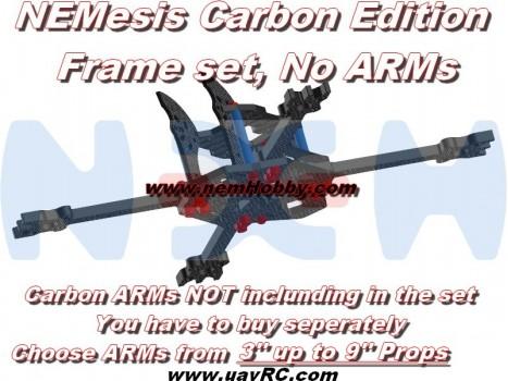 NEMesis Carbon Version Racing Drone Frame -No ARMs