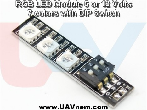 RGB 5050 12V LED Light Board with DIP Switch for 7 Colors