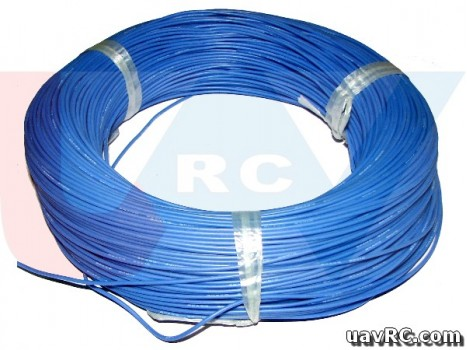 Silicone cable 14AWG x1mtr. Black/Red/Yellow/Blue color