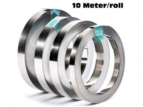 Nickel Strip Roll 10M,18650 Li-ion Battery Spot Welding Machine Battery Welders -010/012/015/020mm