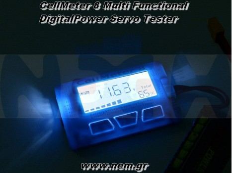 CellMeter 8 Servo Tester Upgrade Version, with Backlight and Discharge Function